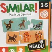 Similar! 2-5 ani Match the 3 puzzles