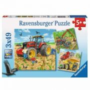 Puzzle Ravensburger - Masinarii, 3 in 1, 3x49 piese 