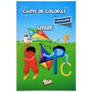 Carte de colorat cu abtibilduri - Litere