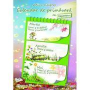 Calendar de primavara cu Abtibilduri. Clasa a II-a