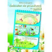 Calendar de primavara cu Abtibilduri. Clasa a III-a
