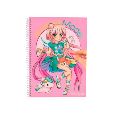 Manga Models Carte de colorat si stickere