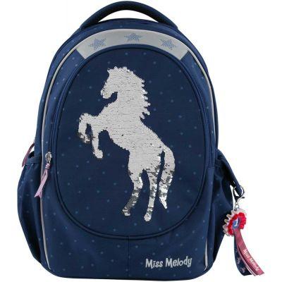 Ghiozdan Miss Melody, albastru cu unicorn