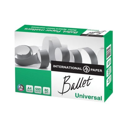 Hartie copiator A4 Ballet Universal, 80 g/mp, 500 coli/top