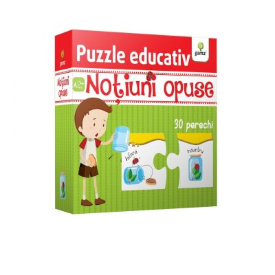 Notiuni opuse - Puzzle educativ