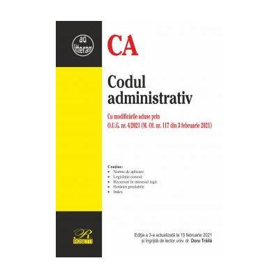 Codul administrativ Din 3 februarie 2021