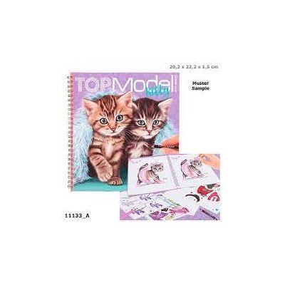 TOP MODEL CREATE YOUR KITTY - CARTE DE COLORAT CU STICKERE